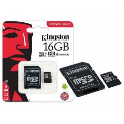 Memory Card Kingston 16gb Class 10 Microsd Sdcs With Adapter