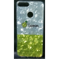 Cover Silicone Bling Glitter For Huawei Y7 2018 Lemon