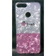 Cover Silicone Bling Glitter For Huawei Y7 2018 Peach
