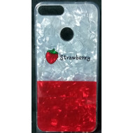 Cover Silicone Bling Glitter For Huawei Y7 2018 Strawberry