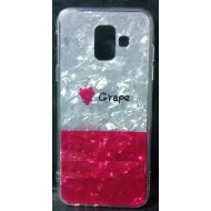 Cover Silicone Bling Glitter For Samsung Galaxy J6 2018 Grape