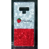 Cover Silicone Bling Glitter For Samsung Galaxy Note 9 Strawberry