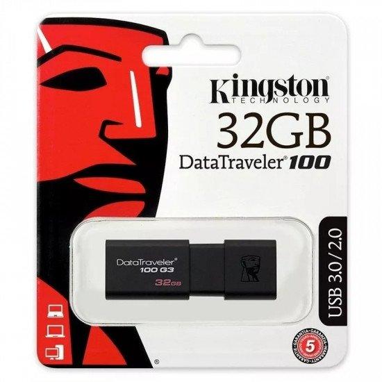 Pen Drive Kingston 32GB Usb 3.0 (Dt100g3)