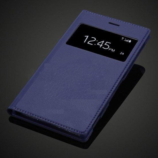 Flip Cover S View Samsung Galaxy Alpha Sm-G850 Blister Blue