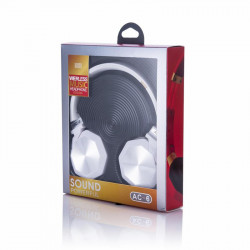Headphone Ac-6 Wireless Stereo Bluetooth White