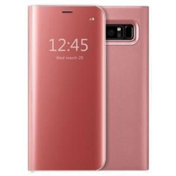 Flip Cover Clear View Standing Cover Samsung Galaxy Note 9  Compatible Pink