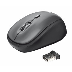Mouse Trust Yui Wireless Optical (18519) Gray And Black