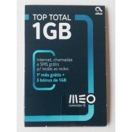 Meo Card Top Total 1gb + 500 Min + 15 Days Validity