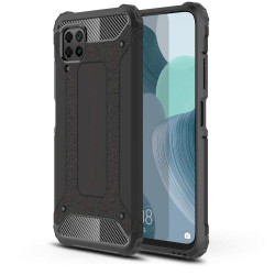 Capa Silicone Anti-Choque Armor Carbon Apple Iphone 12 / 12 Pro Preto Ring Armor Case