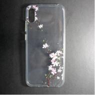 Huawei Y6 2019 Silicone Case Flower Design Cherry