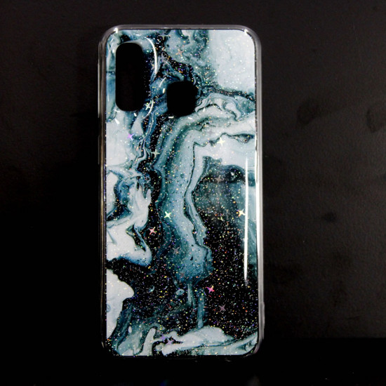 Samsung Galaxy A40 Hard Cover With Marble Stone Design