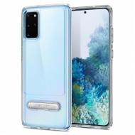 Capa Silicone Dura Kickstand Slim Armor Samsung Galaxy S20 Transparente