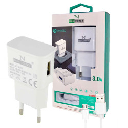 New Science Micro USB Charger 3.0A FC-12 White