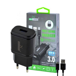 New Science Micro Usb Charger 8600 V8 3.0a Ref: 9963 Black
