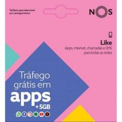 Cartão Sim Nos Like Trafego Gratis Em Apps+5gb De Internet E 1.5 Min/Sms Durante 1 Mes