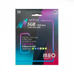 Meo Card M Movel 5gb + 1000min/Sms + 1 Month Validity