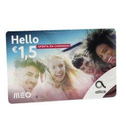 Cartão De Recarga Meo Hello Brazil With 1.50€ Talktime