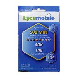 Cartão Sim Lyca Lyca Globe Top Total 4gb + 500 Min 100 Sms Nacionais 1 Mes Validade