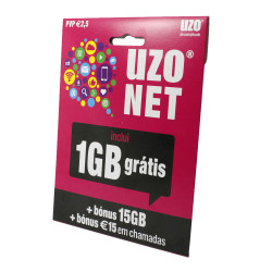 Uzo Card 1gb Gratis Internet  5€ Bonus