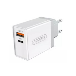 Accetel Ac610w Usb Adapter - 24wats Usb E Type-C White