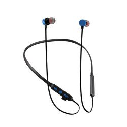 Tf-100 Edr Stereo Binaural Stereo Neckband Earbuds Support Tf Card Blue