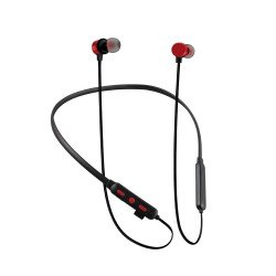 Tf-100 Edr Stereo Binaural Stereo Neckband Earbuds Support Tf Card Red