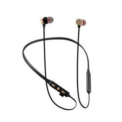 Tf-100 Edr Stereo Binaural Stereo Neckband Earbuds Support Tf Card Gold