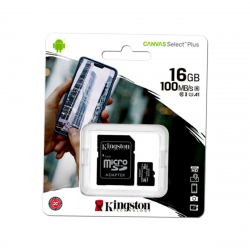 Memory Card Kingston 16gb Class 10 100mb/S Microsd Sdcs With Adapter