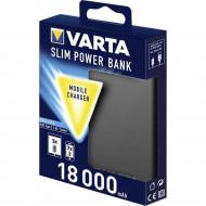 Power Bank Varta Slim 18000mah Silver