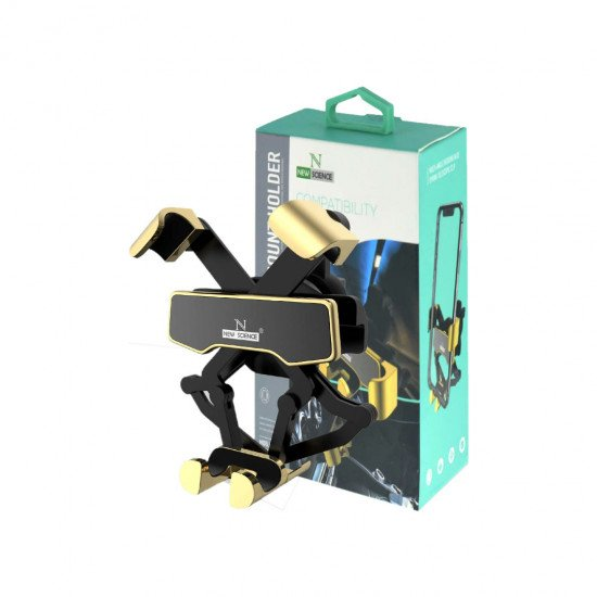 Mobile Holder For Car New Science HD13 Gold