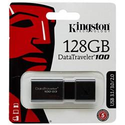 Pen Drive Kingston 128GB Data Travelerr 100 G3 Usb 3.1/3.0/2.0