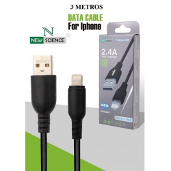 Cable New Science Apple Iphone 5,6,7,8,10 2.4a 3m