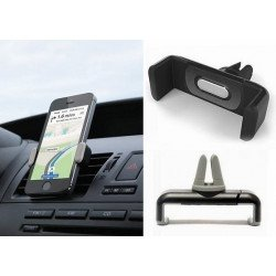 Portable Car Air Vent Mount Holder For Mobile Phone 3.4 Inch Black
