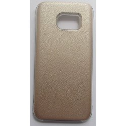 Capa Traseira Clear View Cover Gh69-24019a para Samsung Galaxy S7 / G930 Dourado Compatível