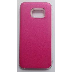 Capa Traseira Clear View Cover Gh69-24019a para Samsung Galaxy S7 / G930 Rosa Compatível