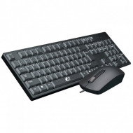 Keyboard Mouse Fantech 1905 Black Mute Button Design, Business Office E Ergonomic Design