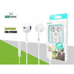 HEADPHONE NEW SCIENCE CUFFIA BRANCO IPHONE JECK