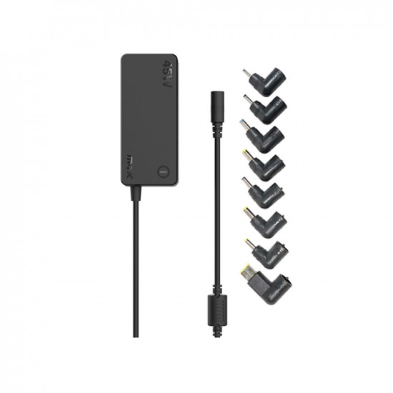 Mtk At962 Black 45w 220cm Laptop Charger With 8 Connectors And Protection for Overload