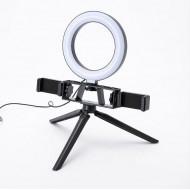 Ring Light New Science L12 Preto Com Tripod Stand E Duplo Mobile Suporte