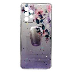 Bling Glitter Samsung Galaxy A52 5g Roxo Flowers Com Kickstand