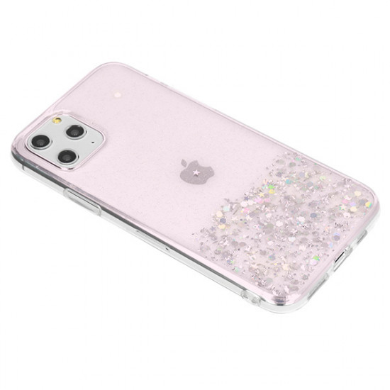 Cover Gel Liquid And Sparkel Samsung Galaxy M21 / M30s Pink