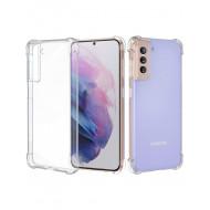 Capa Silicone Dura Anti-Choque Samsung Galaxy S21 Transparente