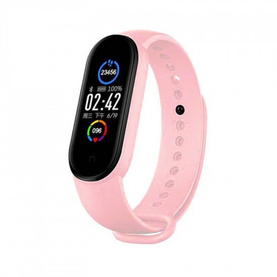 M5 Smart Fitness Band Exercise Bracelet Rosa