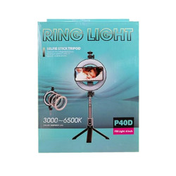 Ring Light Oem P40d Preto Diffrent Light Colours, Fill Light 6 Inch E Adjustable Lenght