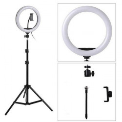 """Ring Light Oem Dx-200 Black With Tripod Stand, 8 """"Ring Fill Light, Multiple Color Temperature And Beauty Face"""