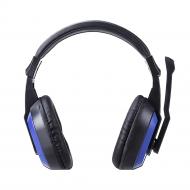 Auscultador Wireless Mtk Ct649 Azul Soft Skin, Com Microphone, Compatible Com Pc E Ps4