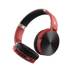 Auscultador Wireless One Plus C5996 Vermelho Bts Handfree , Adjustable Design E Aux Cable Input, Fm Radio