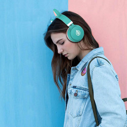 New Science Headphones Oem Led031 Cat Ear Headset Green Wireless, With 7 Colour Light