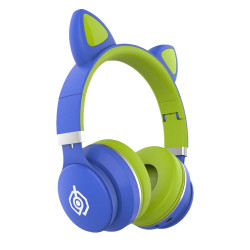 New Science Headphones Oem Led031 Cat Ear Headset Green Wireless, Intelligent Fast Charge