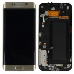 Touch+Lcd Com Frame Samsung S6 Edge G925 Dourado Orignal